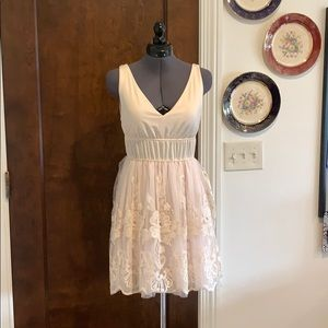 American Rag Pink Tulle & Embroidered Dress S NWT
